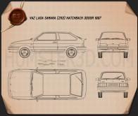 VAZ Lada Samara (2113) hatchback 3-door 1997 Blueprint