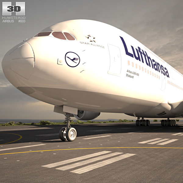 3D model of Airbus A380