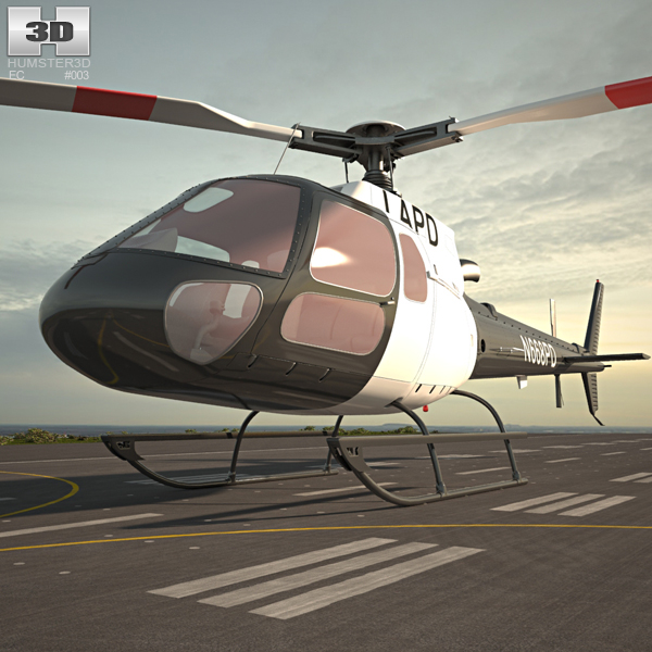 3D model of Eurocopter AS350