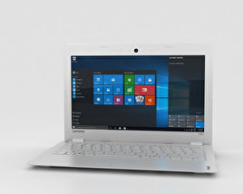 3D model of Lenovo Ideapad 100S White