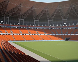 3D model of King Abdullah Sports City Stadium