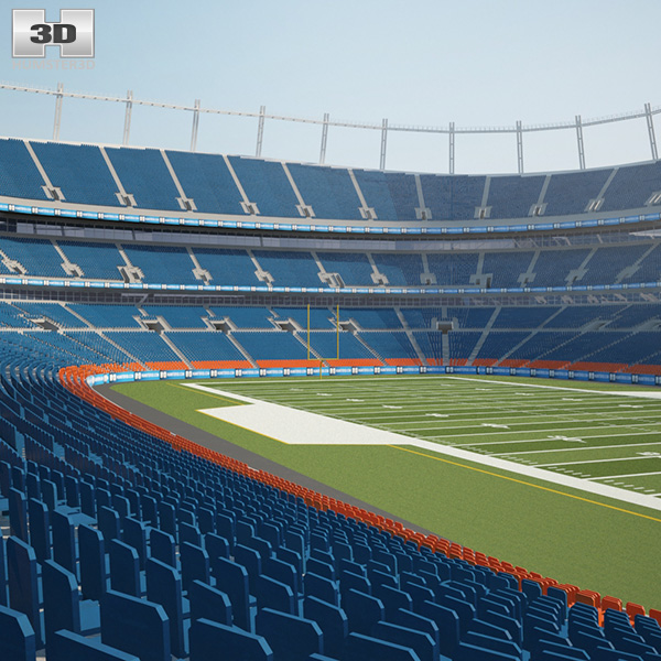 3D model of Sports Authority Field at Mile High