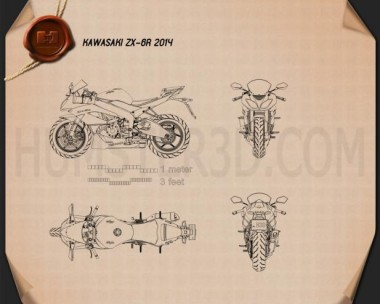 Kawasaki ZX-6R 2014 Blueprint