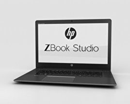 3D model of HP Zbook Studio