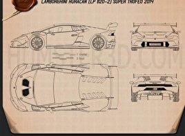 Lamborghini Huracan (LP 620-2) Super Trofeo 2014 Blueprint