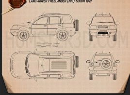 Land Rover Freelander 5-door 1997 Blueprint