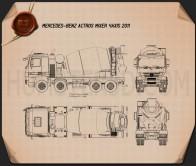 Mercedes-Benz Actros Mixer 2011 Blueprint