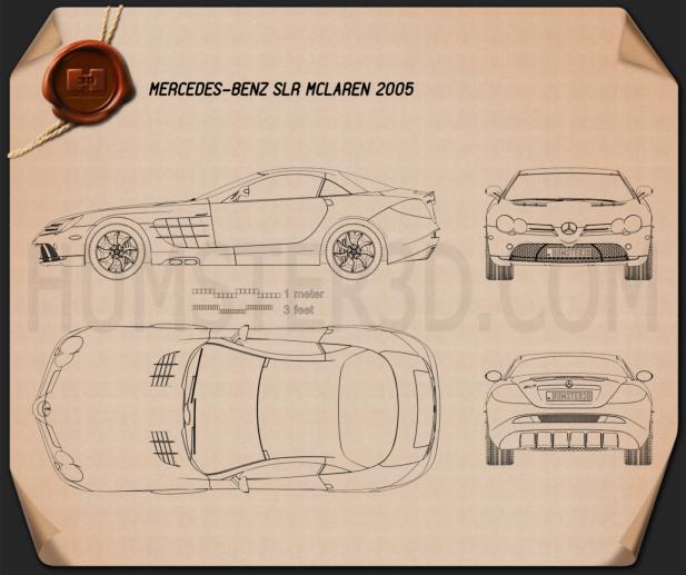 Mercedes-Benz SLR McLaren 2005 Blueprint