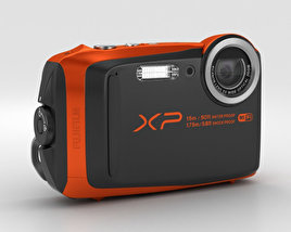 3D model of Fujifilm FinePix XP90 Orange