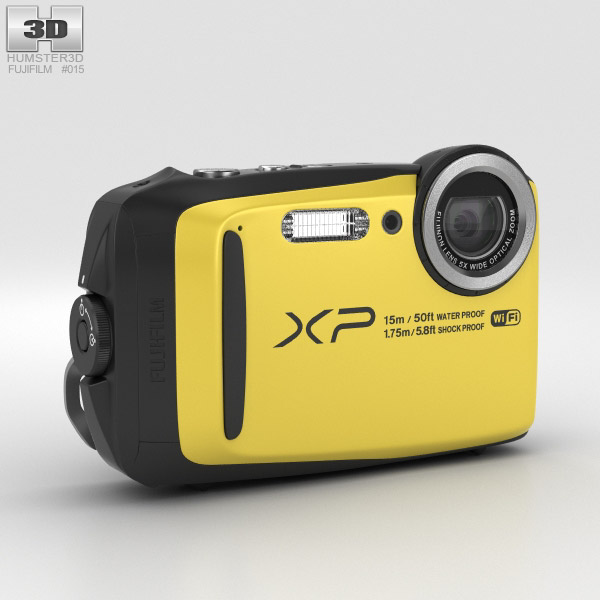 3D model of Fujifilm FinePix XP90 Yellow