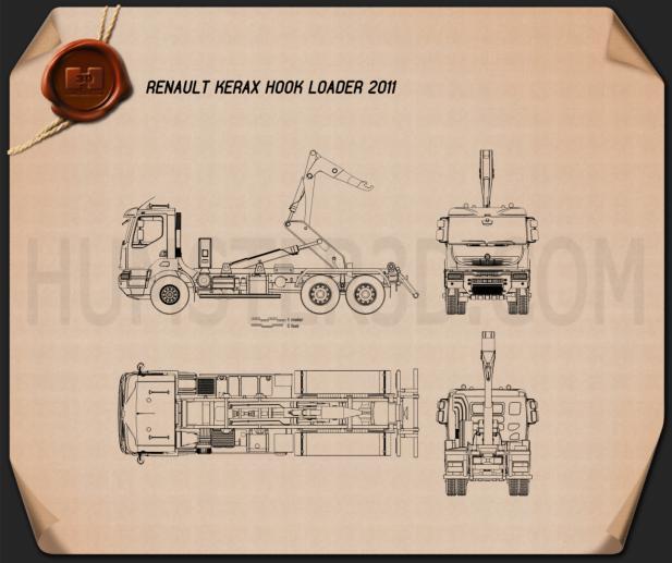 Renault Kerax Hook Loader 2011 Blueprint