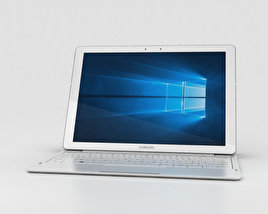 3D model of Samsung Galaxy TabPro S White