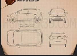 Skoda Citigo 5-door 2013 Blueprint
