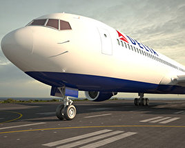 3D model of Boeing 767-300