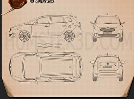 Kia Carens (Rondo) 2013 Blueprint