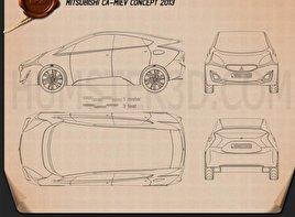 Mitsubishi CA-MiEV 2013 Blueprint