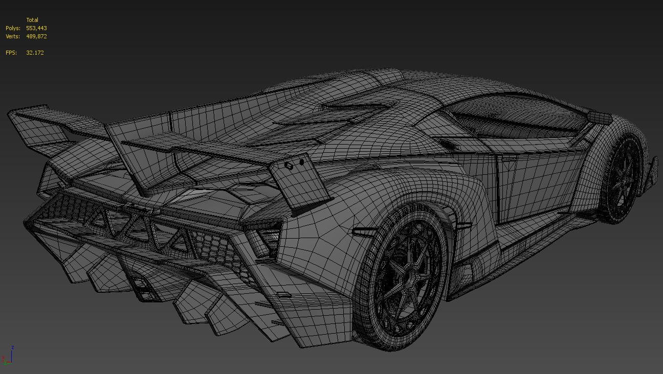 Finished 3d model