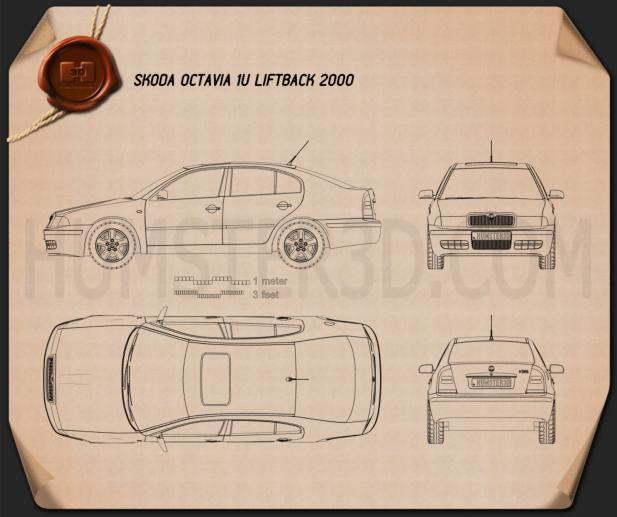 Skoda Octavia Tour 2000 Blueprint