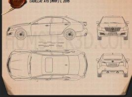 Cadillac ATS L 2015 Blueprint