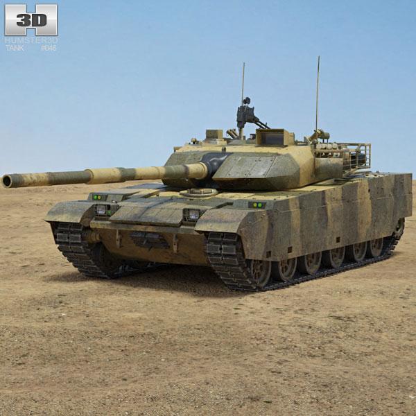 VT-4 (MBT-3000) Tank 3D model