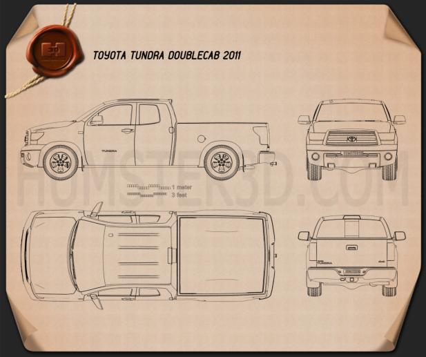 Toyota Tundra Double Cab 2011 Blueprint