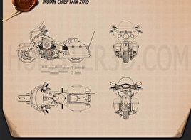 Indian Chieftain 2015 Blueprint