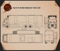 Volvo FM Outside Broadcast Truck 2010 Blueprint