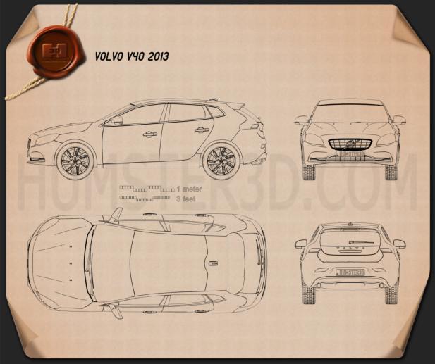 Volvo V40 2013 蓝图