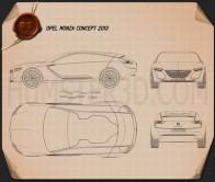 Opel Monza 2013 Blueprint