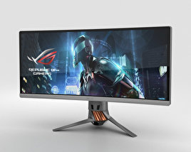 3D model of Asus ROG PG348Q Monitor