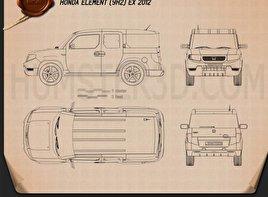 Honda Element EX 2008 Blueprint