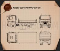Mercedes-Benz Actros Tipper 2-axle 2011 Blueprint