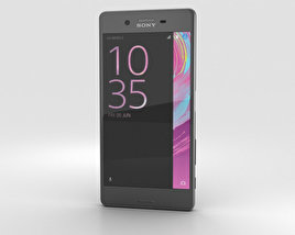 3D model of Sony Xperia X Graphite Black