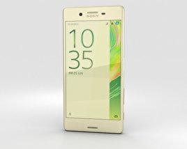 3D model of Sony Xperia X Lime Gold