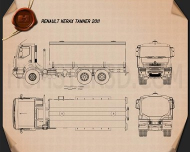 Renault Kerax Tanker 2011 Blueprint