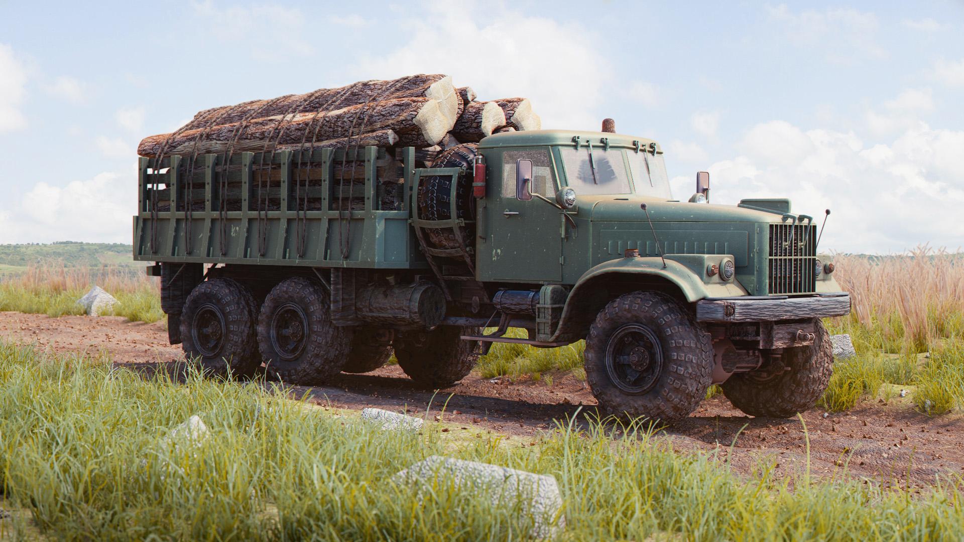 Woodcutter truck
