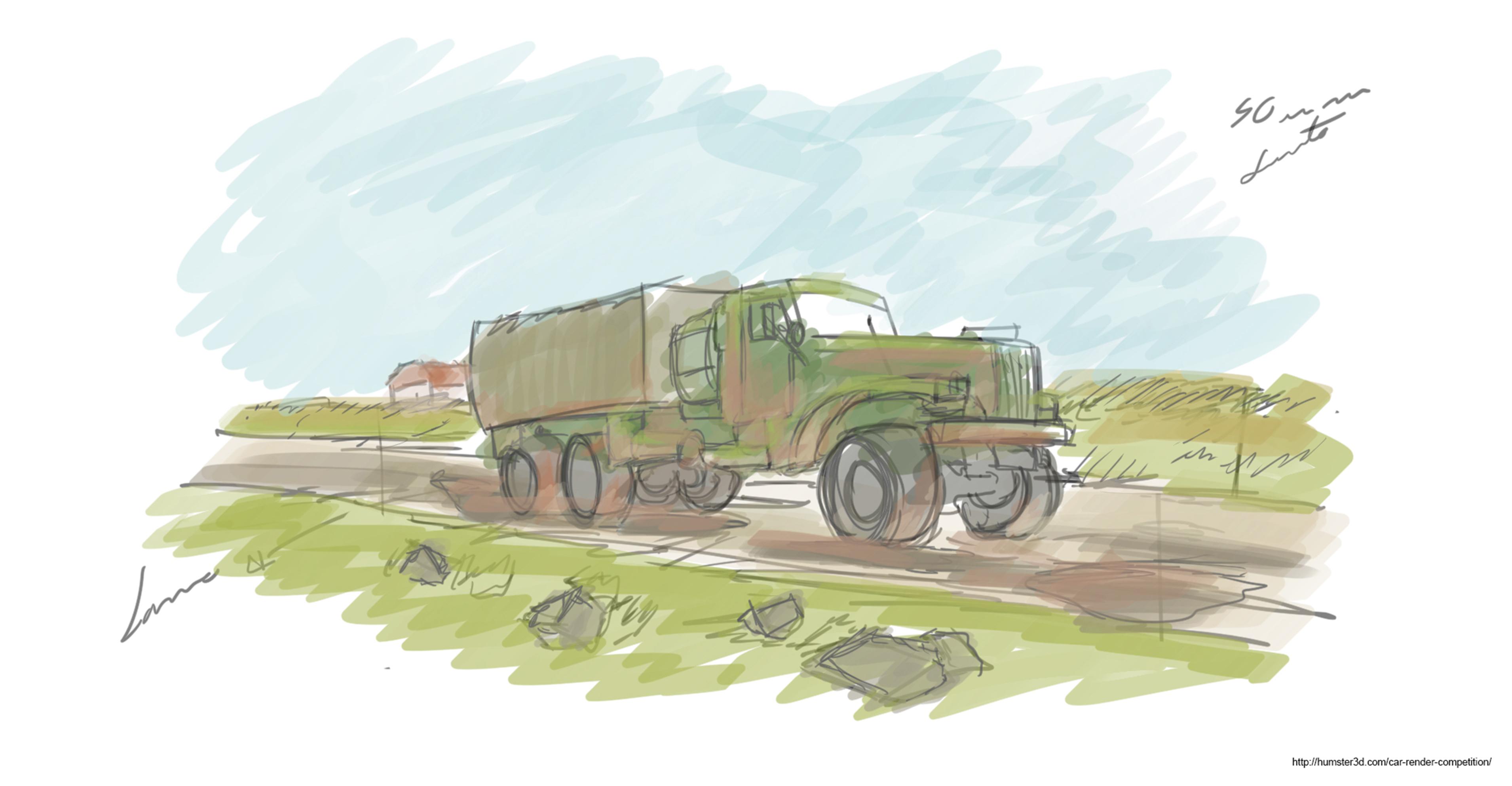 Kraz-255 Concept illustration