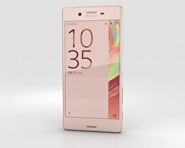 3D model of Sony Xperia X Rose Gold