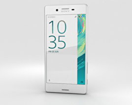 3D model of Sony Xperia X White