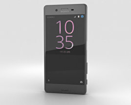 3D model of Sony Xperia X Performance Graphite Black