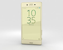 3D model of Sony Xperia X Performance Lime Gold