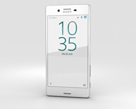 3D model of Sony Xperia X Performance White