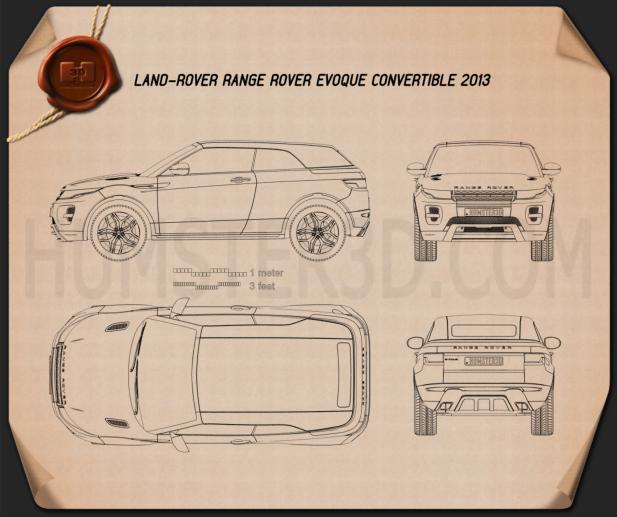 Land Rover Range Rover Evoque convertible 2013 Blueprint