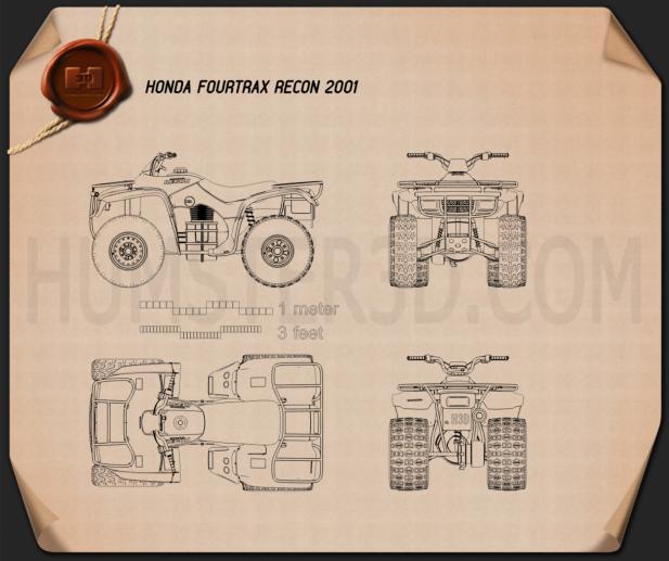 Honda FourTrax Recon 2001 Blueprint