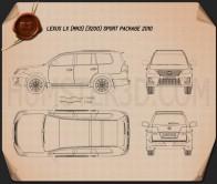 Lexus LX Sport 2010 Blueprint