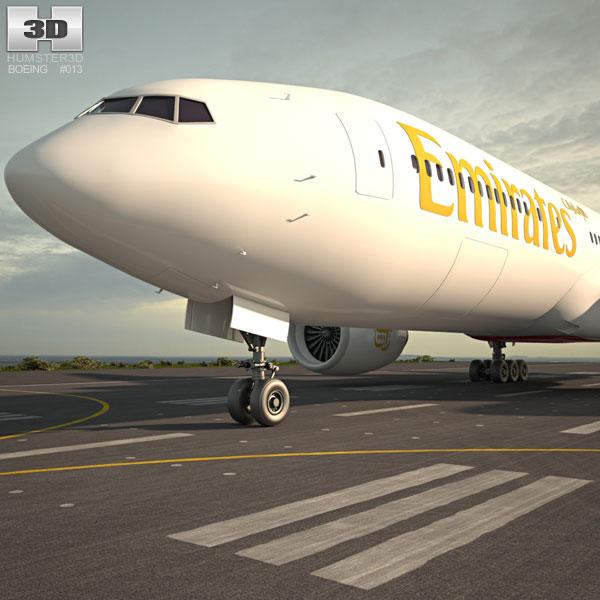 Boeing 777 3D model