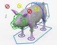 Pig HD 3d model
