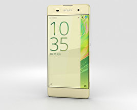3D model of Sony Xperia XA Lime Gold