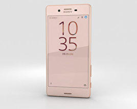 3D model of Sony Xperia X Performance Rose Gold