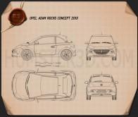 Opel Adam Rocks concept 2013 Blueprint